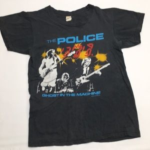 The Police Band Tee. 1982 tour cotton black shirt